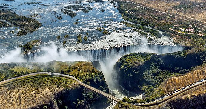 Aerial view Victoria Falls Zimbabwe by Vadim Petrakov, Shutterstock