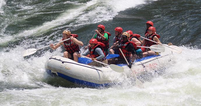 White-water rafting Zambezi River Zimbabwe by Wild Horizons