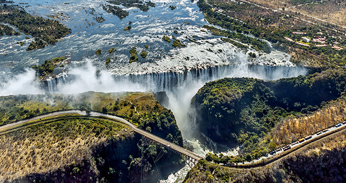 Aerial view of Victoria Falls, Zimbabwe by Vadim Petrakov, Shutterstock