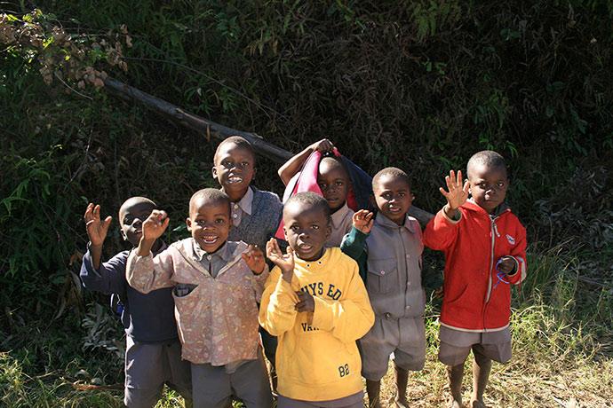 Children Nyanga Zimbabwe by Paul Murray