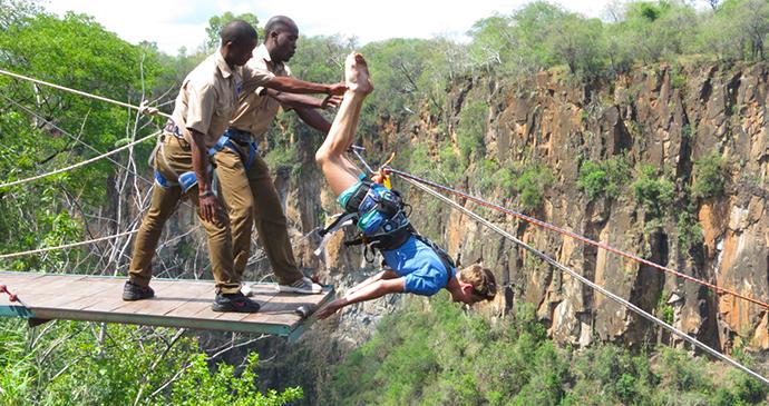 Gorge swing Victoria Falls Zimbabwe Zambia by Wild Horizons