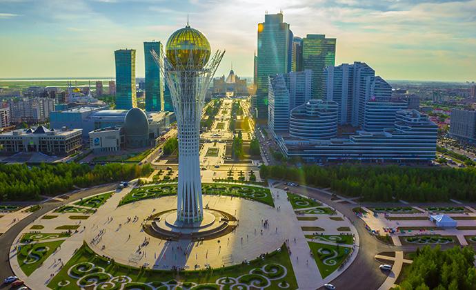 Cityscape Astana Kazakhstan by EXPO-2017 National Company