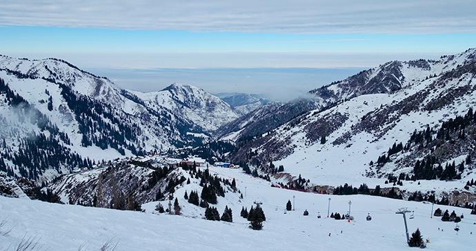 Shymbulak ski resort Almaty Kazakhstan by Maria Oleynik