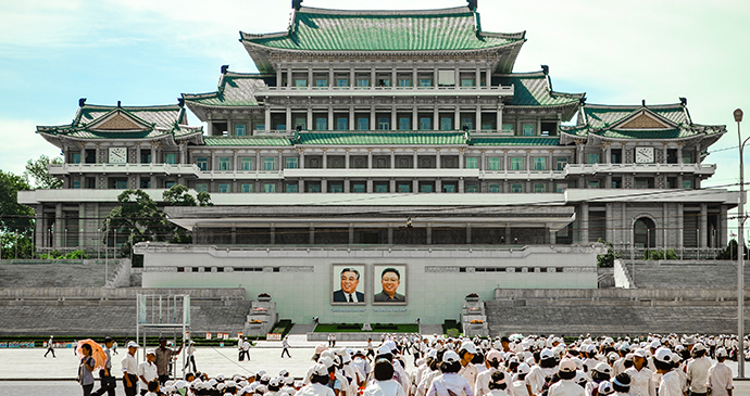 Grand People's Study House Kim Il Sung Square Pyongyang North Korea by Chingtung Lee, Shutterstock