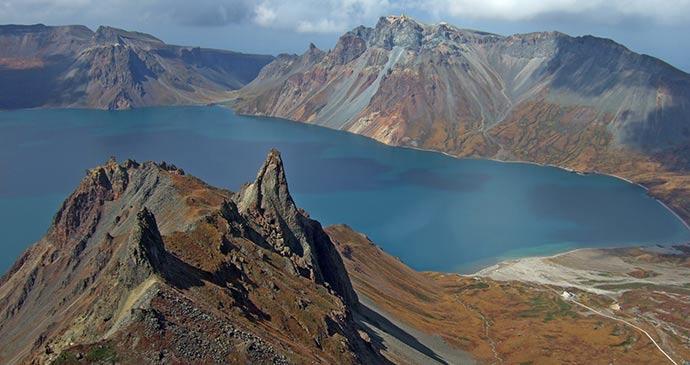 Lake at Paektusan, North Korea by Maxim Tupikov, Shutterstock