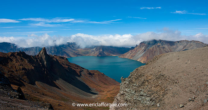 Lake Chon Mount Paektu North Korea by Eric Lafforgue most spectacular lakes in the world