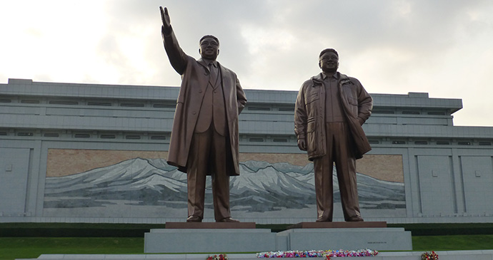 Mansudae Grand Monument on Mansu Hill, North Korea © Hilary Bradt