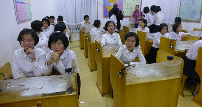 Schoolchildren in Chongjin, North Korea © Hilary Bradt