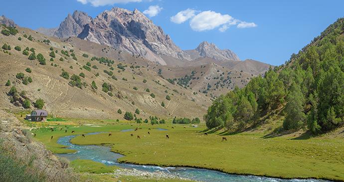 Fann Mountains Tajikistan by mbrand85 Shutterstock