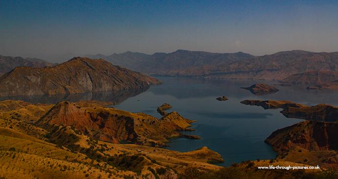 Nurek Lake in Tajikistan by Raven Valentine