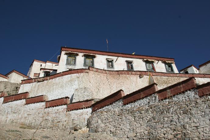Gyantse fortress Shigatse Prefecture Tibet China by Michael Buckley