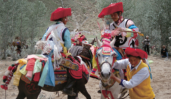 Horse-racing festival Tibet China by Michael Buckley