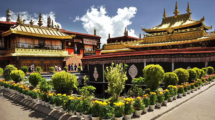Jokhang Temple Lhasa Tibet China by Antony007007, Dreamstime