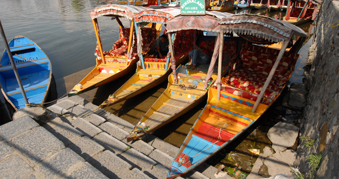 Boats on the lake in Srinagar, Kashmir, India by Maximum Exposure Productions 2013