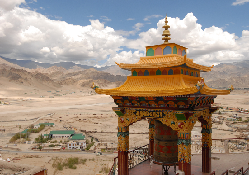 Spituk Gompa, Buddhist monastery overlooking the Indus river, Kashmir, India by Maximum Exposure Productions 2013