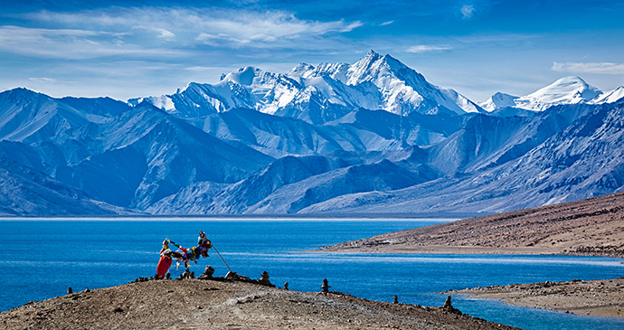 Tso Moriri Ladakh India by Dmitry Rukhlenko Shutterstock most spectacular lakes in the world