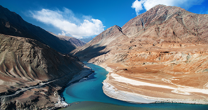 Indus River, Ladakh, India by szefei, Shutterstock