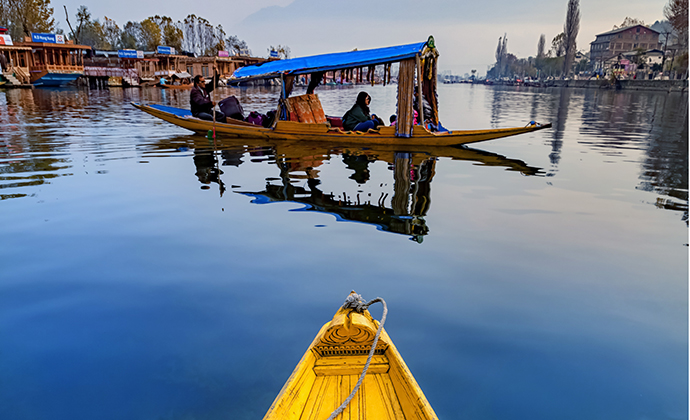 Houseboats, Dal Lake, Srinagar by ImagesofIndia, Shutterstock