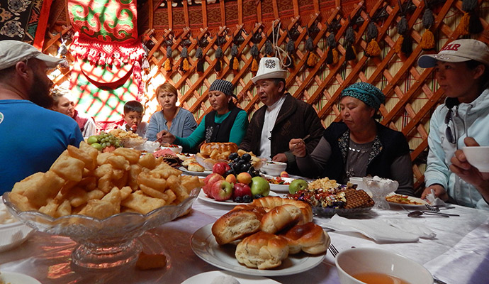 yurt interior, World Nomad Games, Kyrgyzstan by Carys Homer