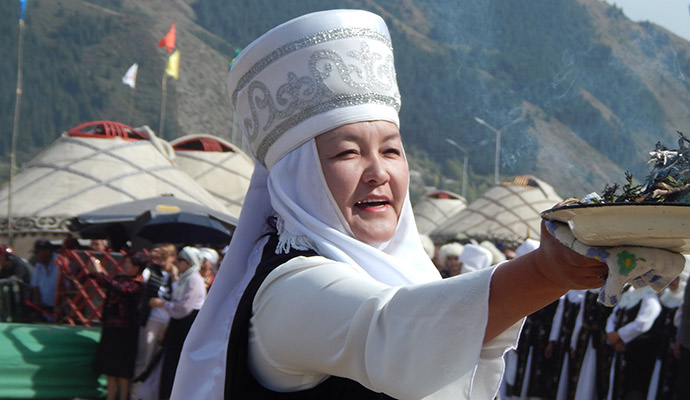 local woman, world nomad games, kyrgyzstan by Carys Homer