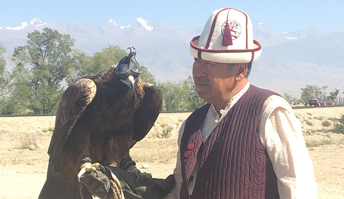 eagle hunter, World Nomad Games, Kyrgyzstan by Carys Homer