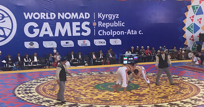 nomad wrestling, World Nomad Games, Kyrgyzstan by Carys Homer
