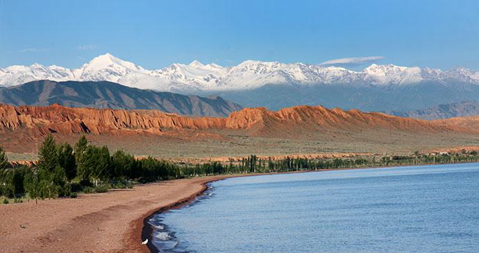Lake Issyk-Kul, Kyrgyzstan by Novoselov, Shutterstock