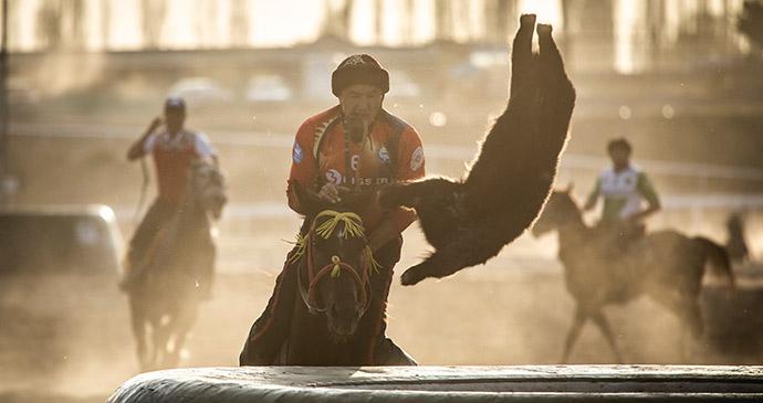 kok boru, World Nomad Games, Kyrgyzstan by Katiekk, Shutterstock