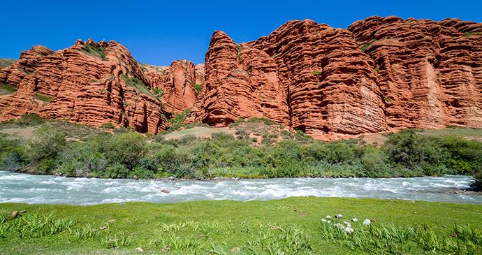 Cliffside, Kyrgyzstan by Evgeny Dubinchuk, Shutterstock