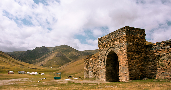 Tash Rabat Silk Road Kyrgyzstan by Radiokafka Shutterstock