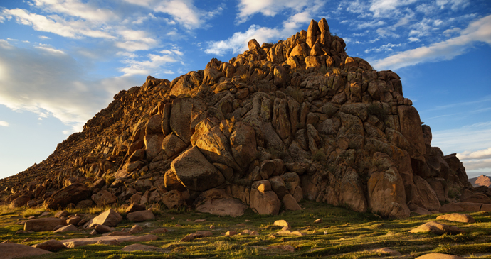 Desert mountains in the Khovd River valley, Western Mongolia by Maxim Petrichuk, Shutterstock