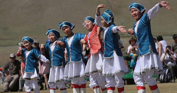 Dancers, Kharkhorin, Mongolia by Pierre-Jean Durieu