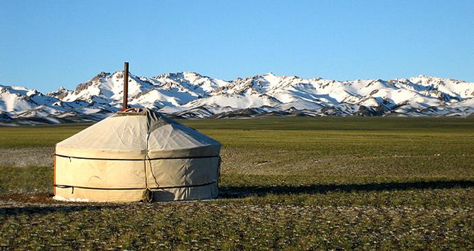 Traditional ger, Gurvan Saikhan mountains, Mongolia by Adagio, Wikipedia