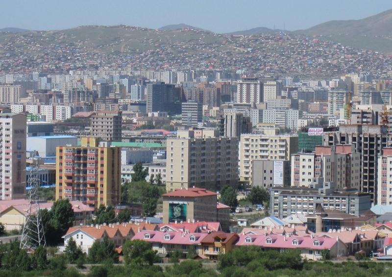 View of Ulaanbaatar from the Zaisan memorial, Mongolia by Shoyuramen, Wikipedia