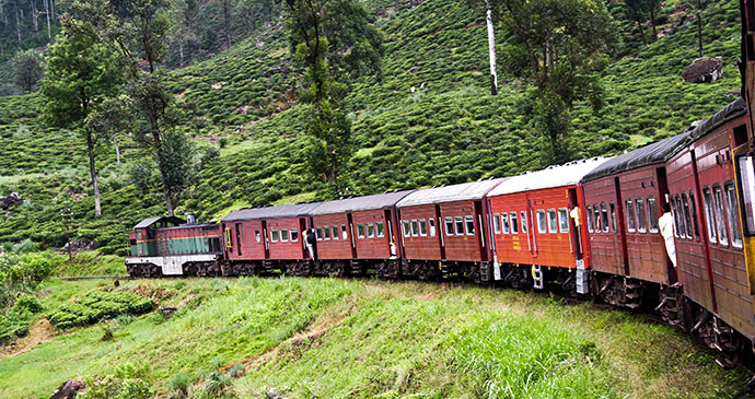 Train Hill Country Sri Lanka by travelview, Shutterstock