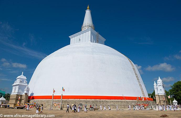 Ruwanweli Dagoba Anuradhapura Sri Lanka by Ariadne Van Zandbergen