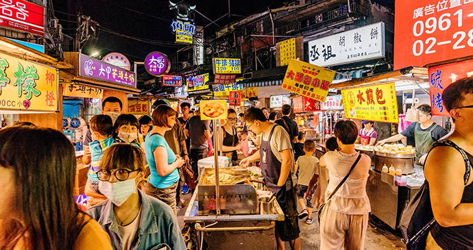 Shilin night market Taiwan street food by asiastock, Shutterstock