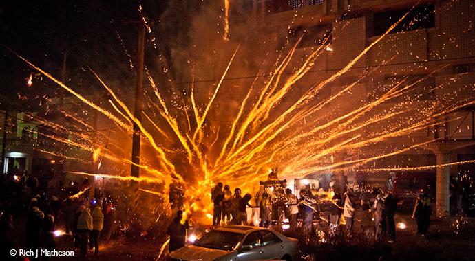 Beehive Fireworks Festival Yanshui Taiwan by Rich Matheson