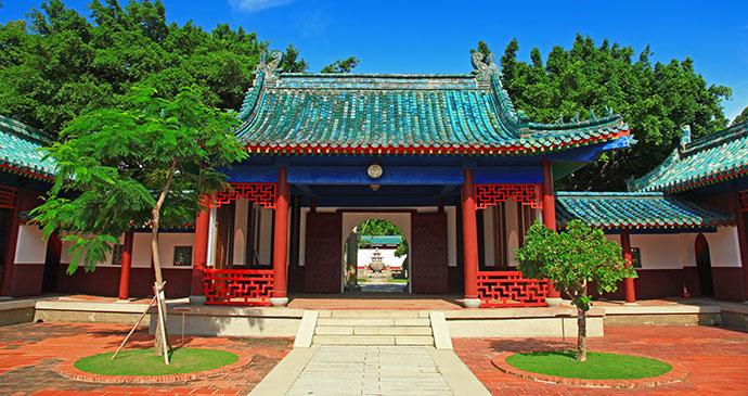 Koxinga shrine Tainan Taiwan by Z H Chen Shutterstock