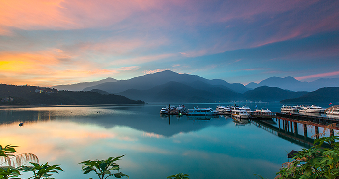 Sun Moon Lake Taiwan by higrace Shutterstock most spectacular lakes in the world