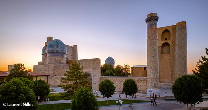 Bibi Khanym Mosque Samarkand by Laurent Nilles