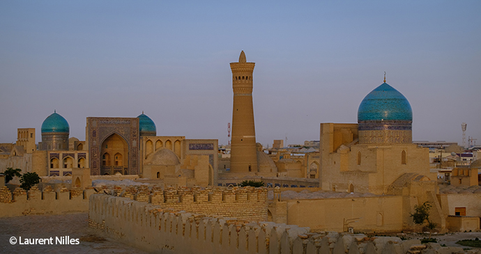 Bukhara Skyline Poi Kalyon Uzbekistan Laurent Nilles
