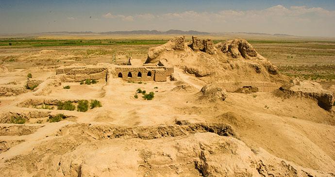 Fortresses Kyzylkum Desert Uzbekistan by Sophie Ibbotson
