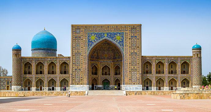 Tilla Kari Madrasa Registan Samarkand Uzbekistan by Evgeniy Agarkov Dreamstime