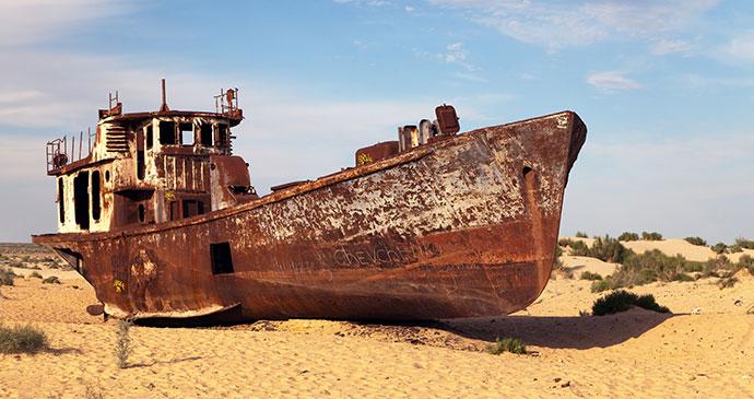 Ship graveyard at Moynaq Uzbekistan by Daniel Prudek Dreamstime