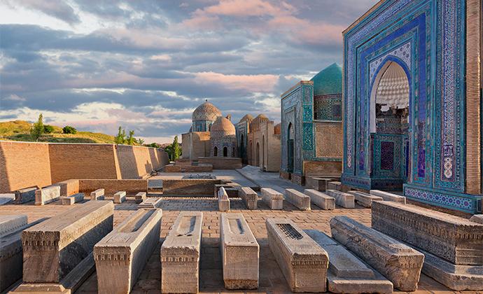 Shah-i Zinda Samarkand Uzbekistan by MehmetO, Shutterstock