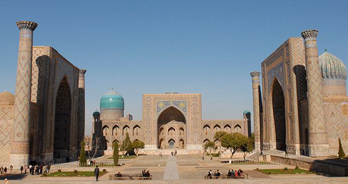 Registan Samarkand Uzbekistan shutterstock by Sophie & Max Lovell-Hoare