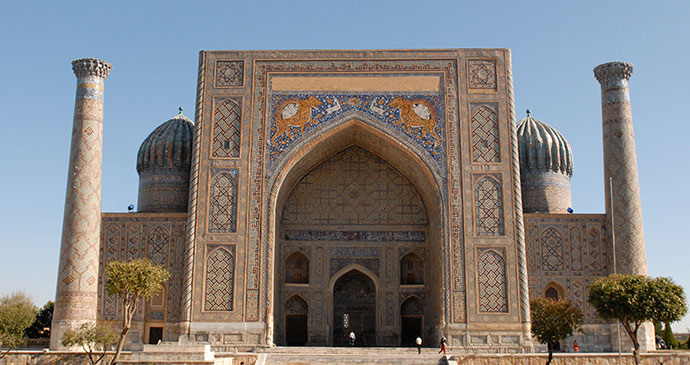 Sher Dor Madrasa Registan Samarkand by Sophie Ibbotson and Max Lovell-Hoare