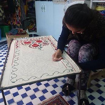 Suzani Bukhara Uzbekistan by Laura Pidgley