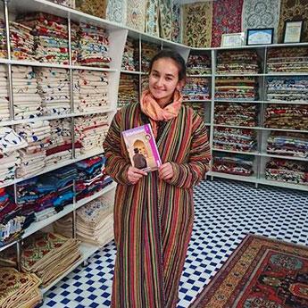 Vazira Suzani Shop Bukhara Uzbekistan by Laura Pidgley